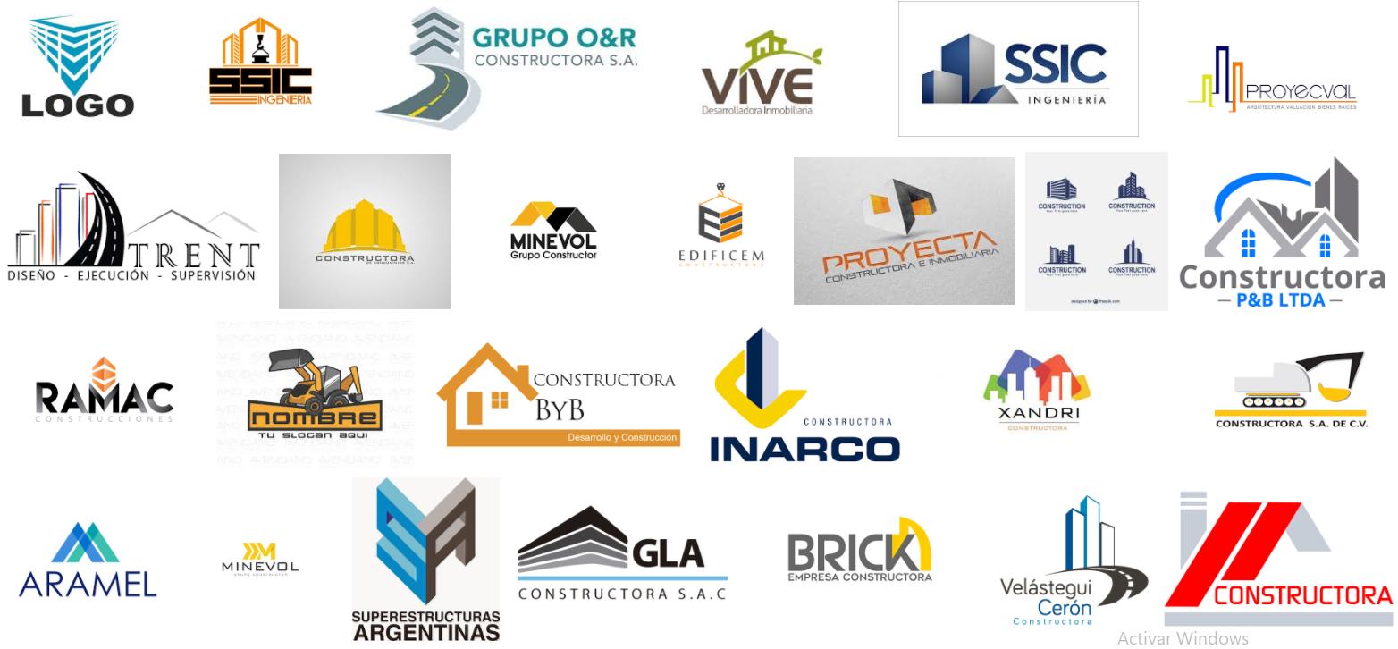 los mejores logotipos de empresas constructoras en lima