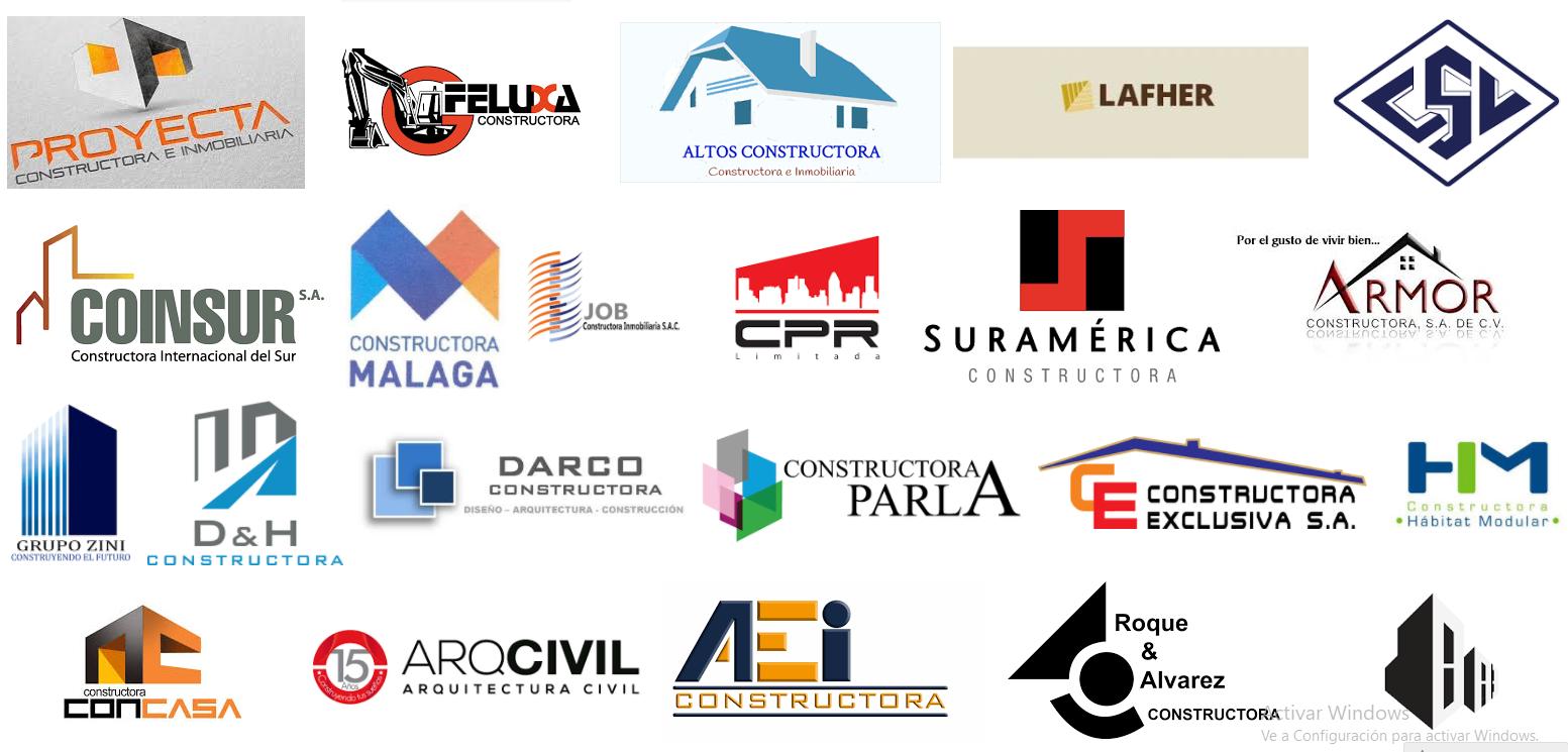 Los mejores logotipos de empresas constructoras en lima for Empresas de construccion