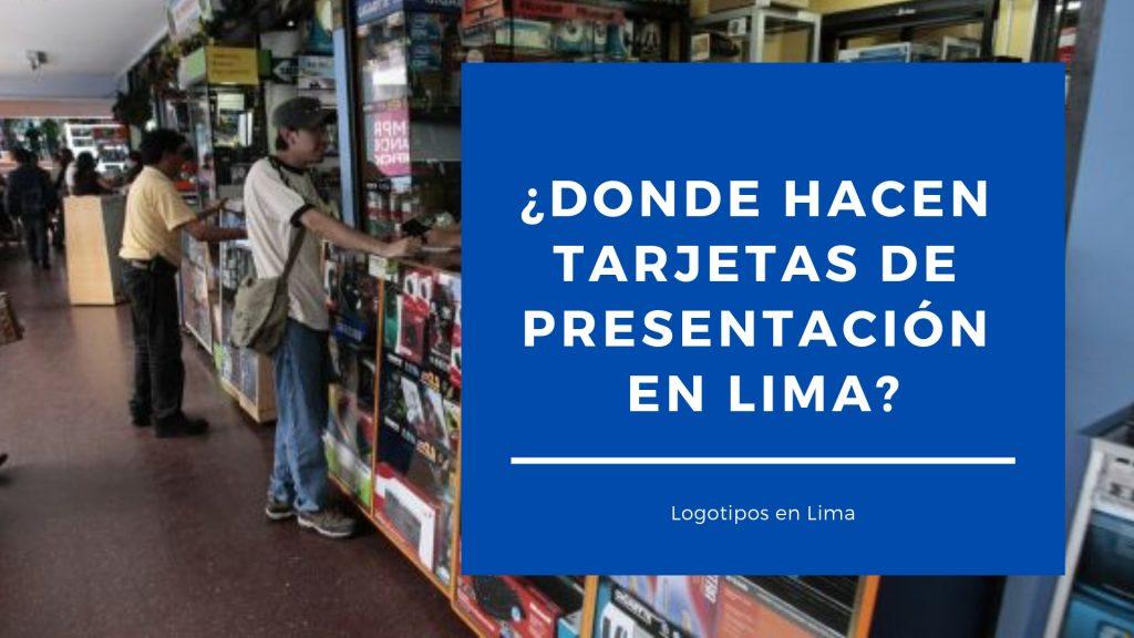 Donde Hacen Tarjetas De Presentación En Lima Logotipos En Lima